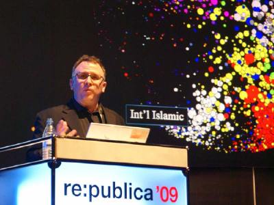 John Kelly auf der re:publica 2009 | Foto: Fiete Stegers